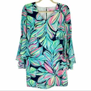 Lily Pulitzer Floral Print Bell Sleeve Shift Dress